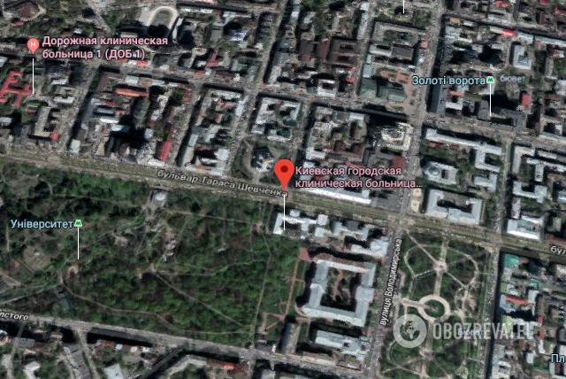 Трагедія трапилася у лікарні на б-рі Тараса Шевченка