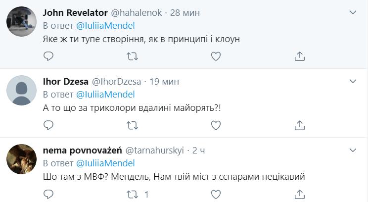 """Мендель выложила фото с флагами """"ЛНР"""""""