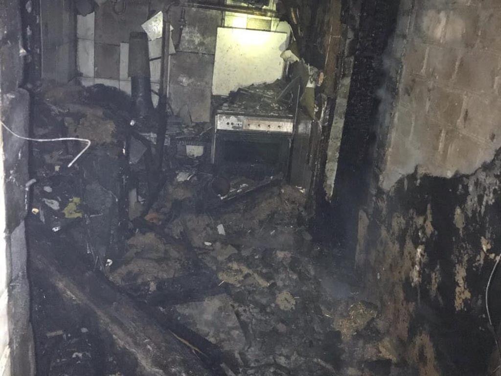 В Кривом Роге горел частный дом