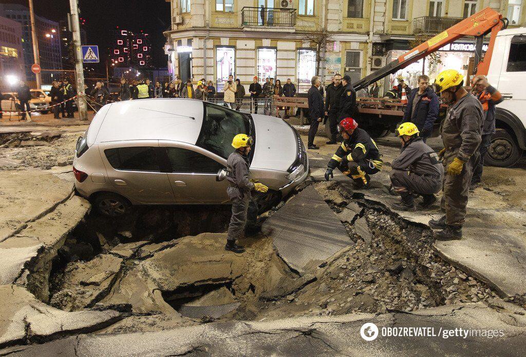НП на вулиці Шота Руставелі у Києві 5 листопада 2019 року