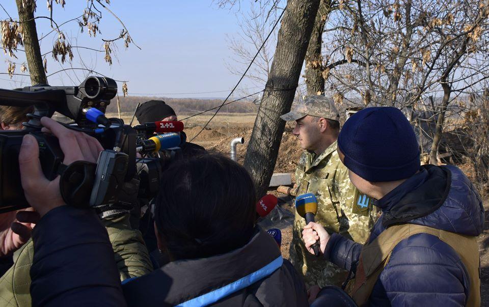2 ноября украинские и зарубежные журналисты побывали в Золотом-4