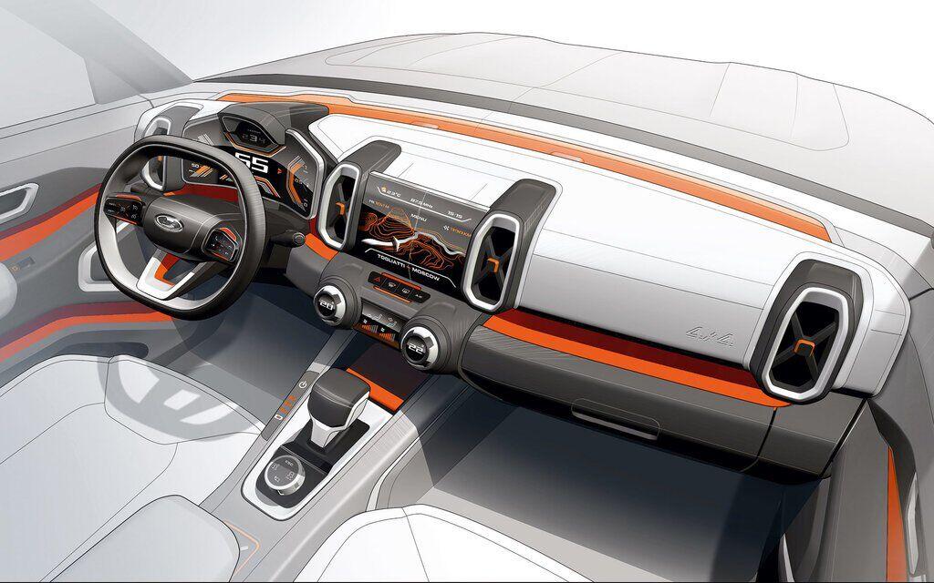 Ескіз передньої панелі Lada Vision 4x4 – щось схоже ми вже бачили ...