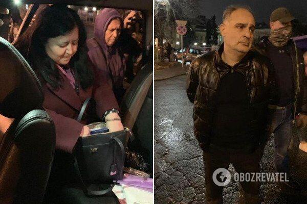 На фото подозреваемые Елена Паровая и Бачилава Гела Ович, которых задержали 7 ноября