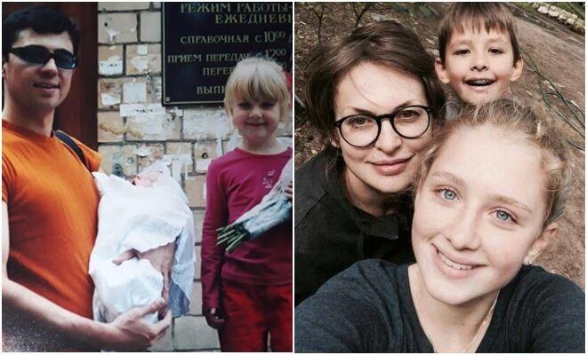Дети Сергея Бодрова Ольга и Александр в детстве и сейчас