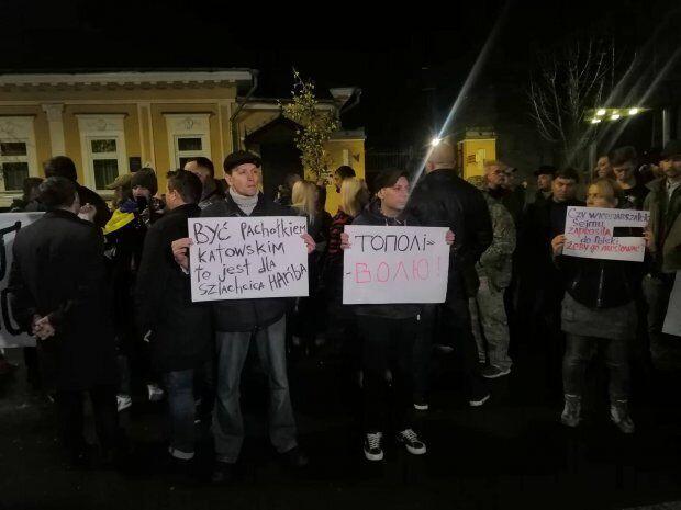Протести під посольством Польщі в Києві
