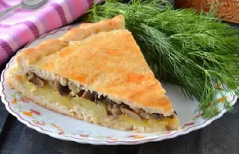 Рецепт самого вкусного пирога с картошкой и грибами