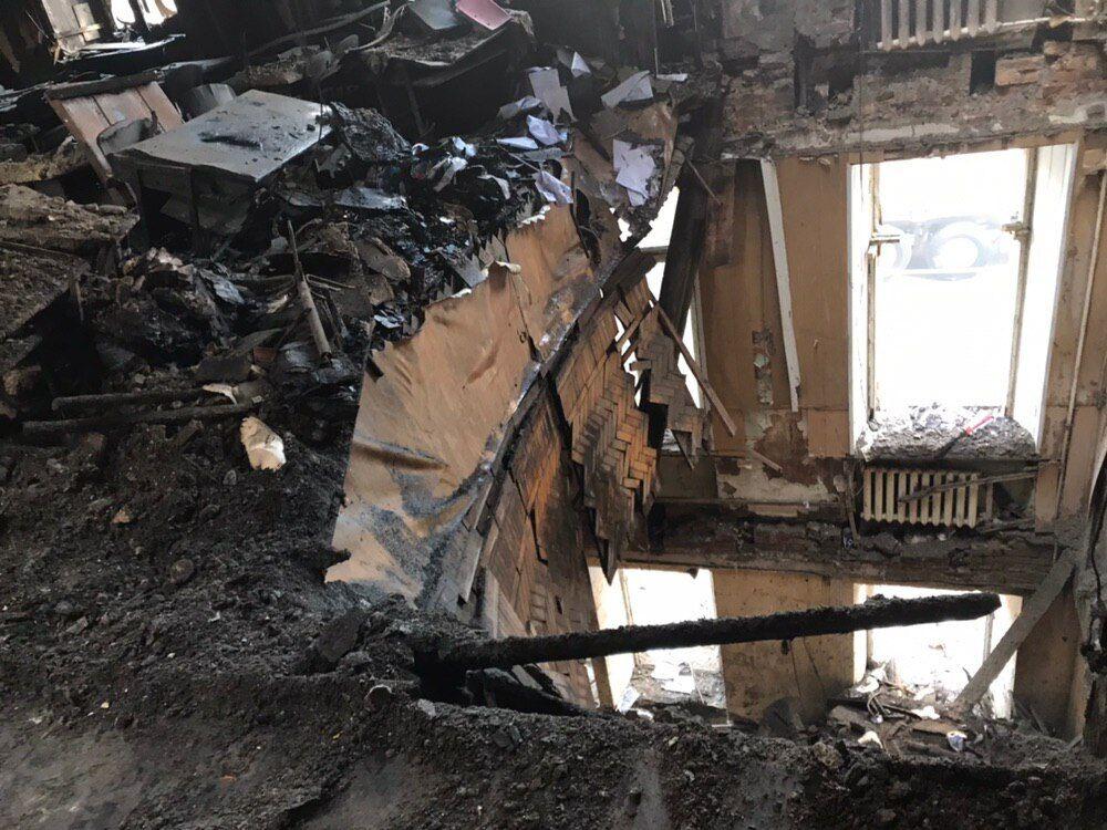 Последствия смертельного пожара в Одессе