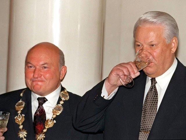 Юрий Лужков и Борис Ельцин