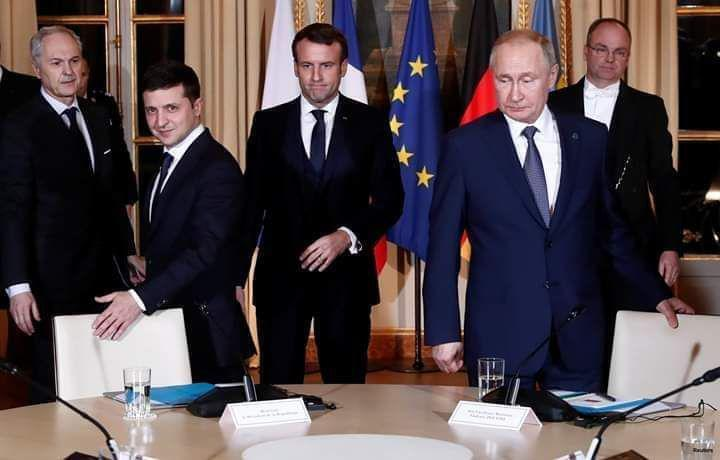 Встреча Зеленского, Путина, Ангелы Меркель и Эммануэля Макрона
