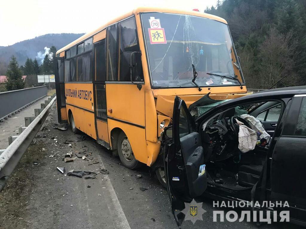 На Львовщине попал в ДТП автобус с детьми