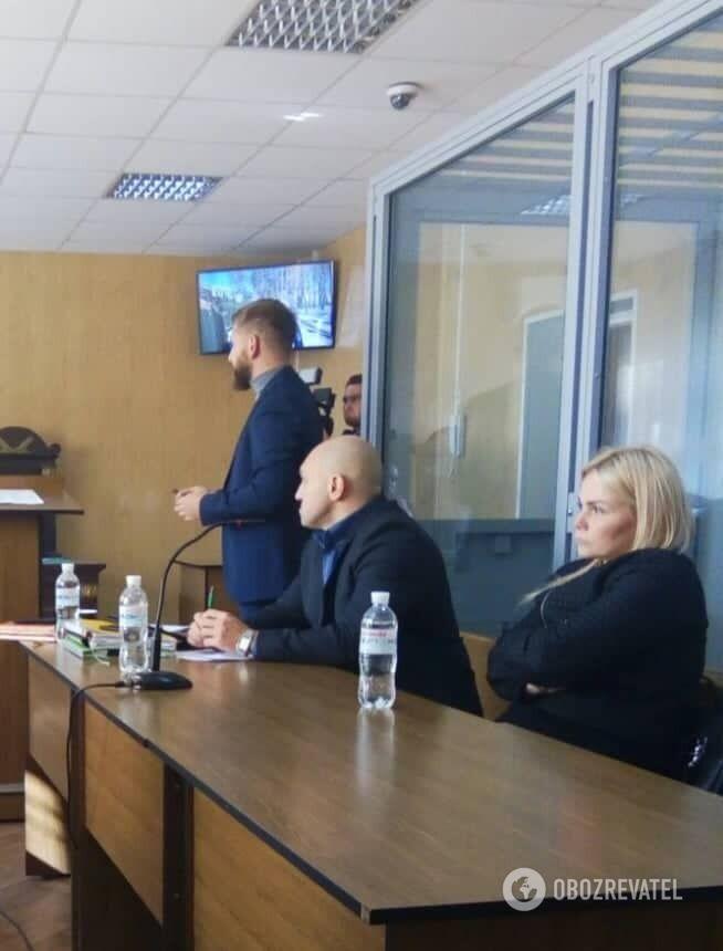Наталя Саєнко на судовому засіданні