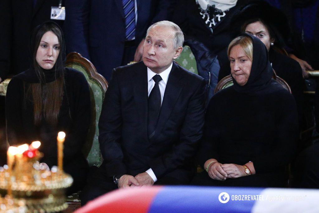 Путин с семьей Лужкова