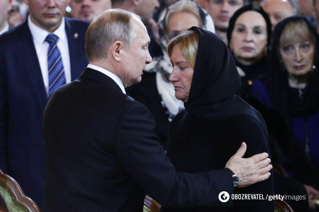 Путин и вдова Лужкова Елена Батурина
