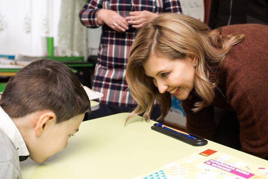 Олена Зеленська в школі
