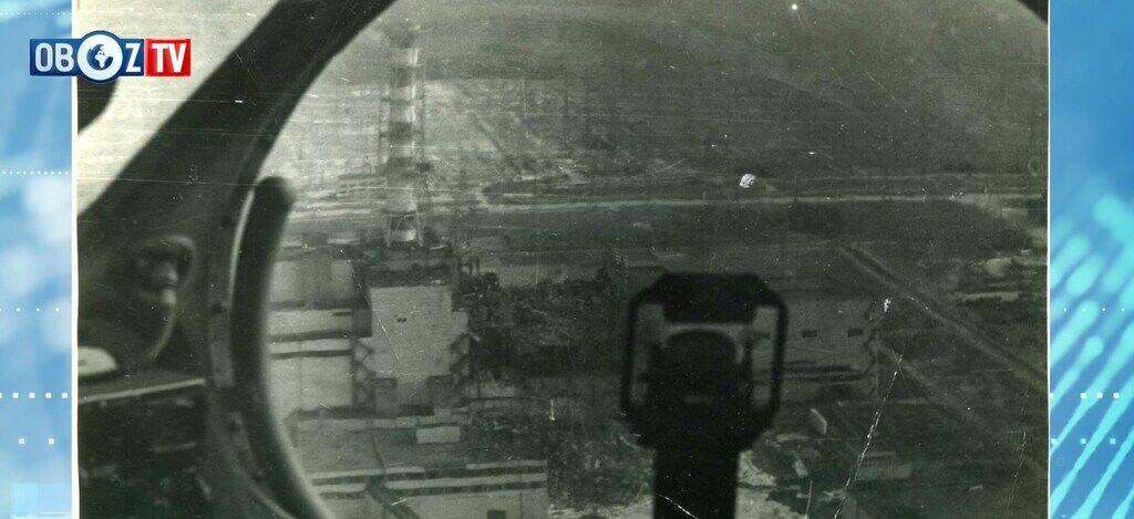 Уникальное фото ЧАЭС после аварии, сделанное из кабины одного из вертолетов