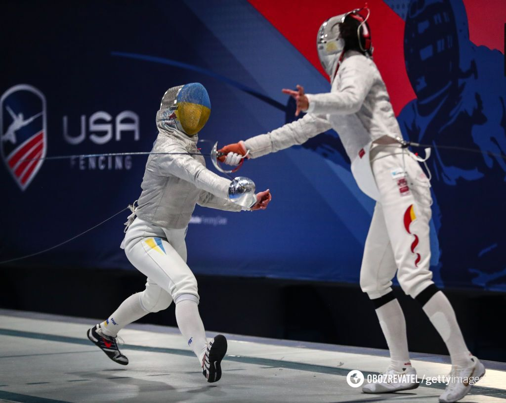 Ольга Харлан на Кубке мира по фехтованию