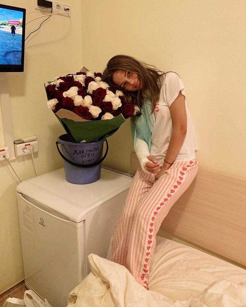 Лиана Волкова в больнице после ДТП