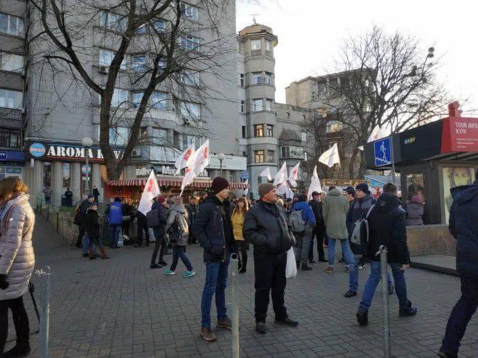 Массовые митинги в Киеве