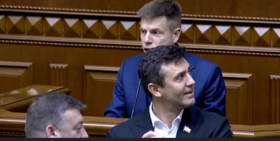 Тищенко під час виступу Гончаренка корчив гримаси