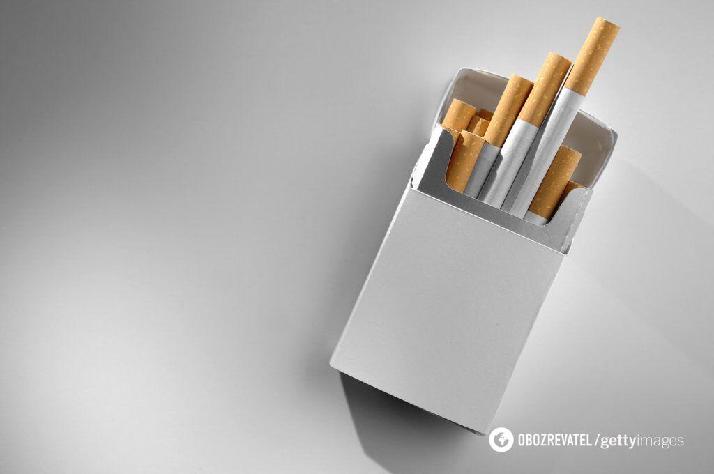 Большая часть пачки сигарет - налоги