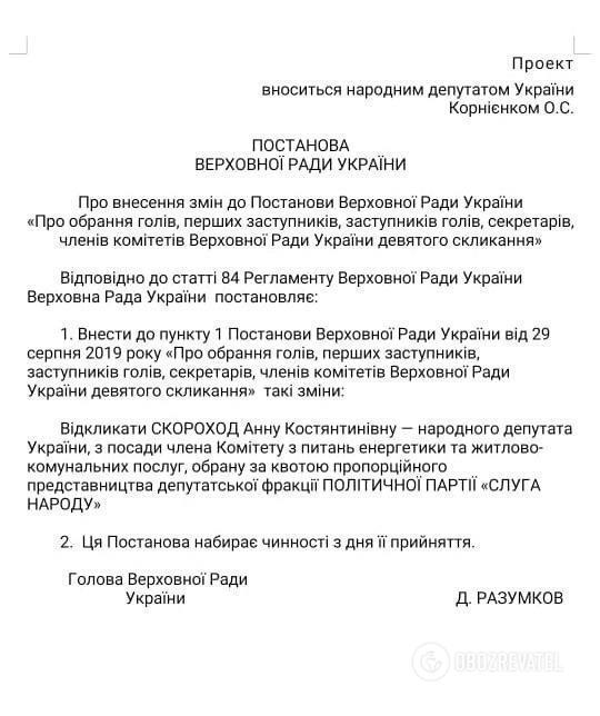 """Виключену зі """"СН"""" Скороход вирішили вигнати з комітету Ради"""
