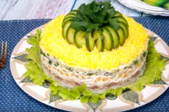 Рецепт незвичайного, але дуже смачного салату на свято