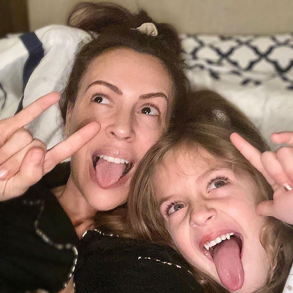 Алісса Мілано з донькою