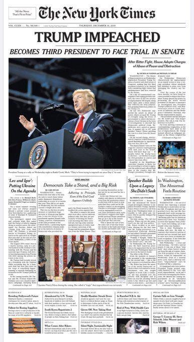 Трампу оголосили імпічмент за двома статтями: що тепер буде