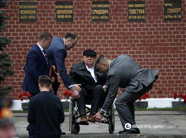 Михайло Горбачов на параді Перемоги - 2019 рік