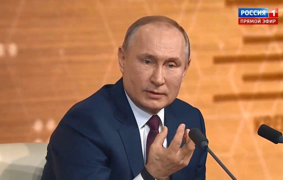 Володимир Путін відповідає на запитання Цимбалюка