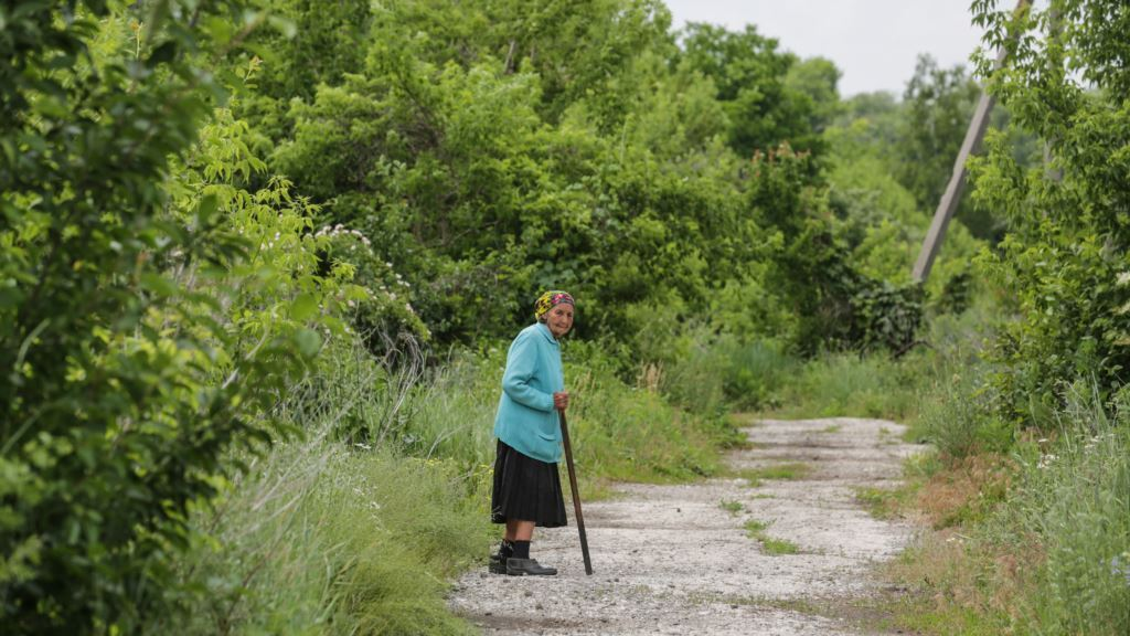 На Донбасі загинула бабуся Марія