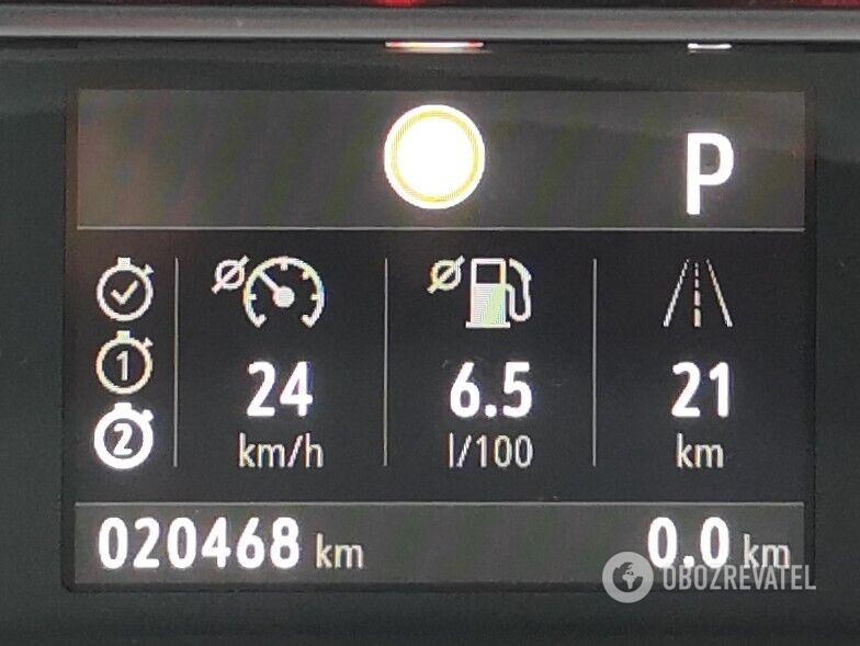 При езде в плотном трафике средний расход составил всего 6,5 л на 100 км