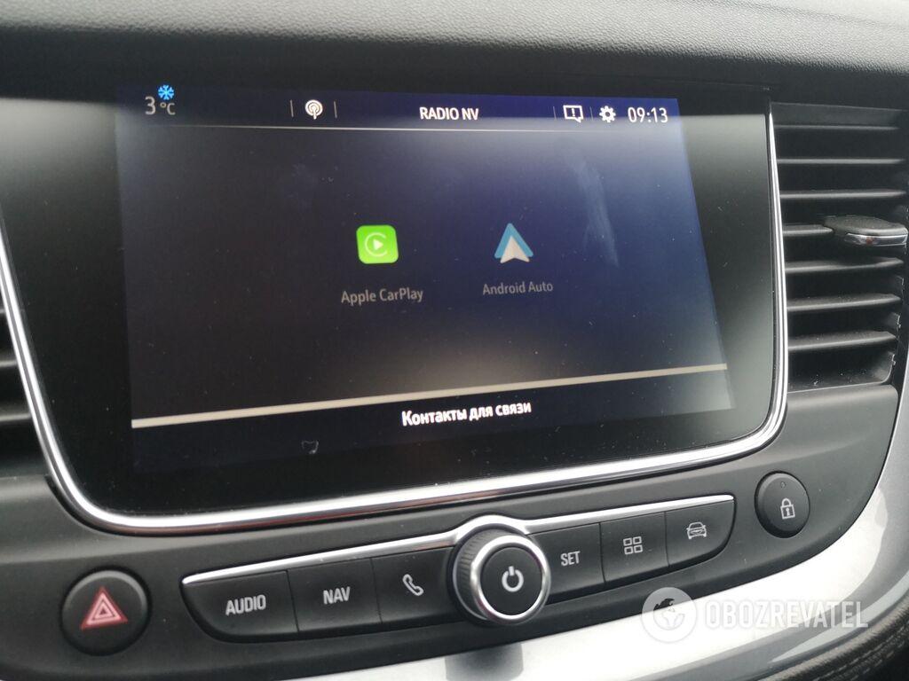 Opel Grandland X может взаимодействовать со смартфонами благодаря поддержке Android Auto и Apple Car Play