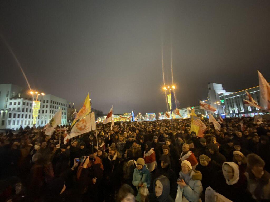В Минске разгорелись протесты против Путина