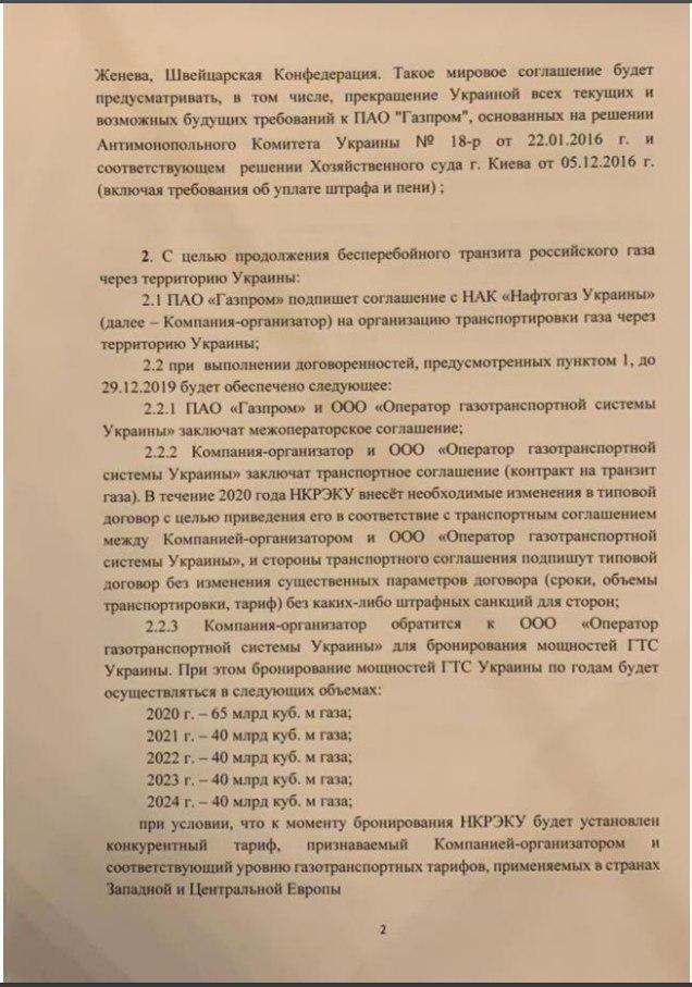 Украина и Россия договорились о новом контракте на транзит газа