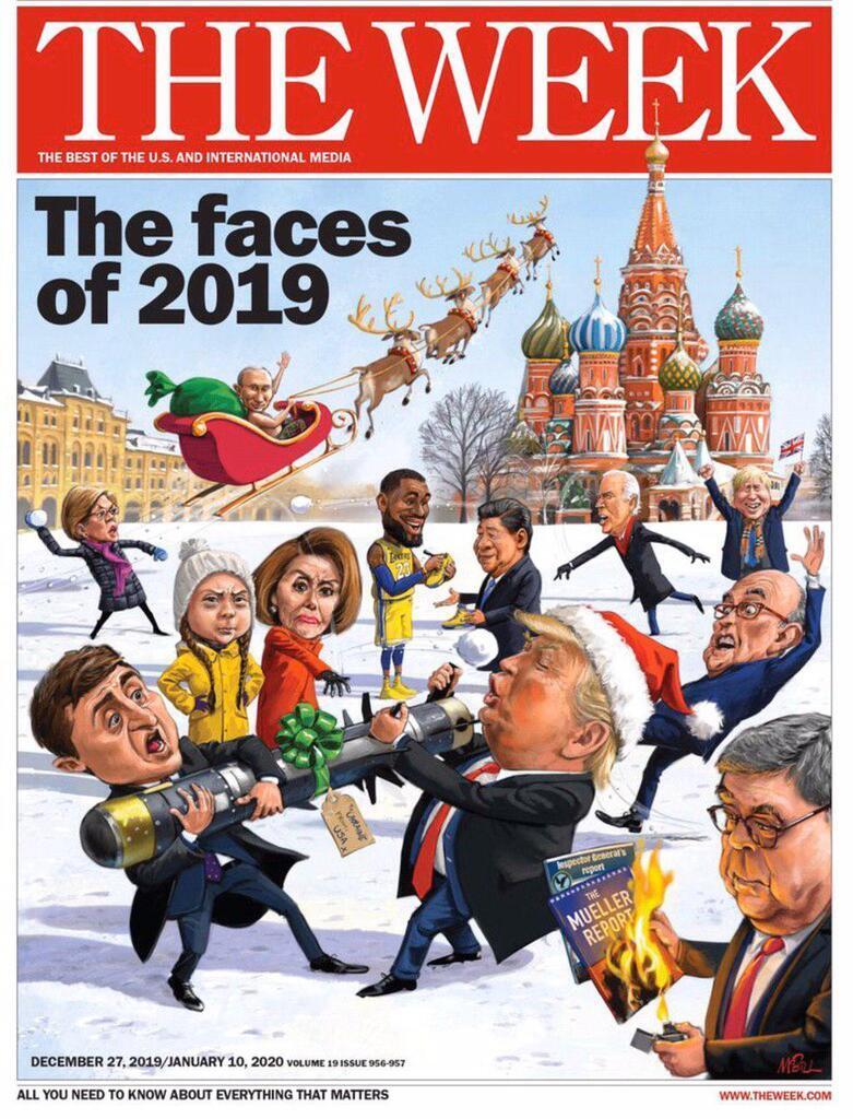 Обложка нового номера журнала The Week