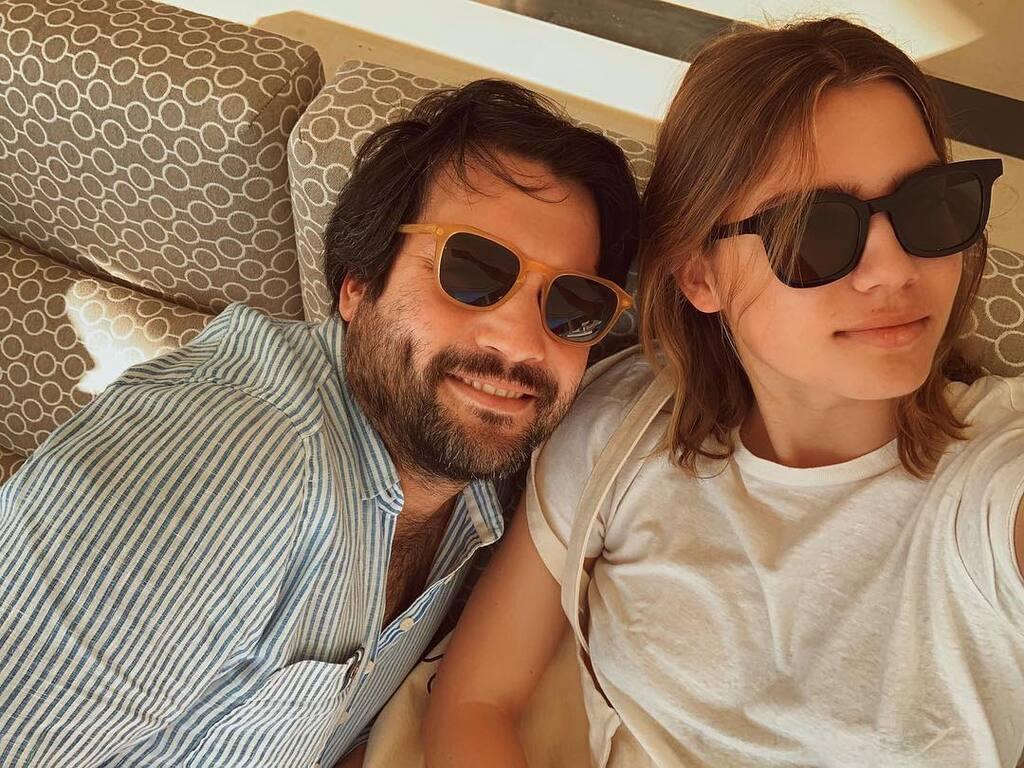 Марія Юмашева з братом Борисом
