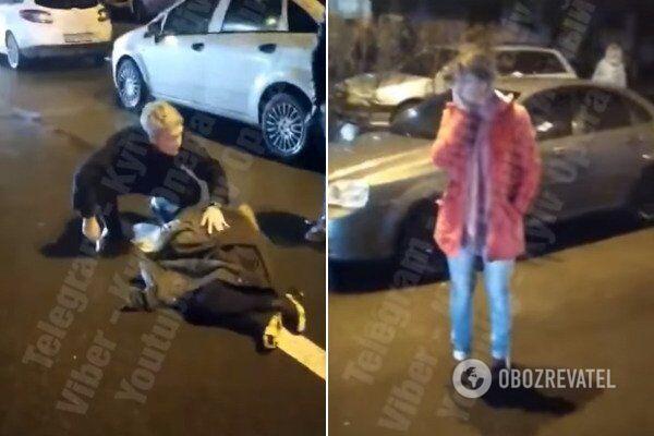 В Киеве авто сбило женщину с ребенком
