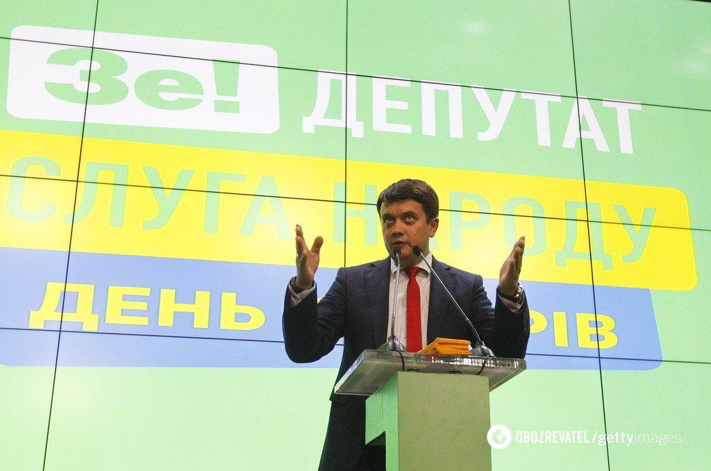 Дмитрий Разумков в день выборов 21 июля