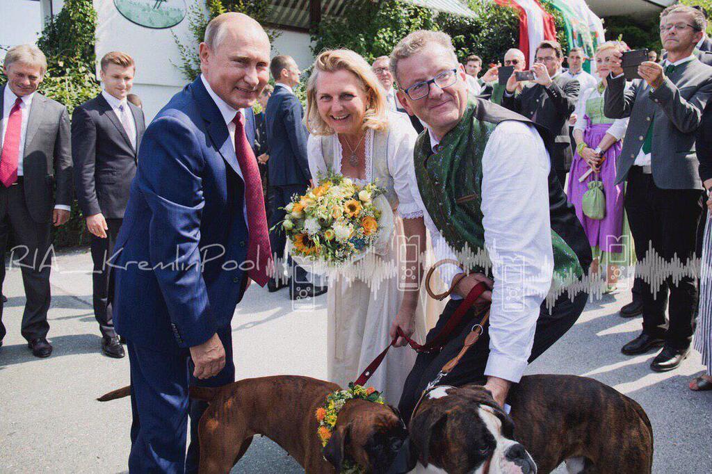 Путин на свадьбе Кнайсль