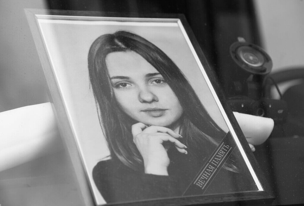 Фото с похорон Екатерины Пьяночкиной
