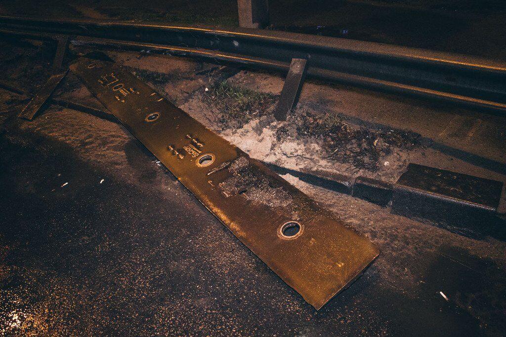 У Києві на Північному мосту відірвалася пластина деформаційного шва
