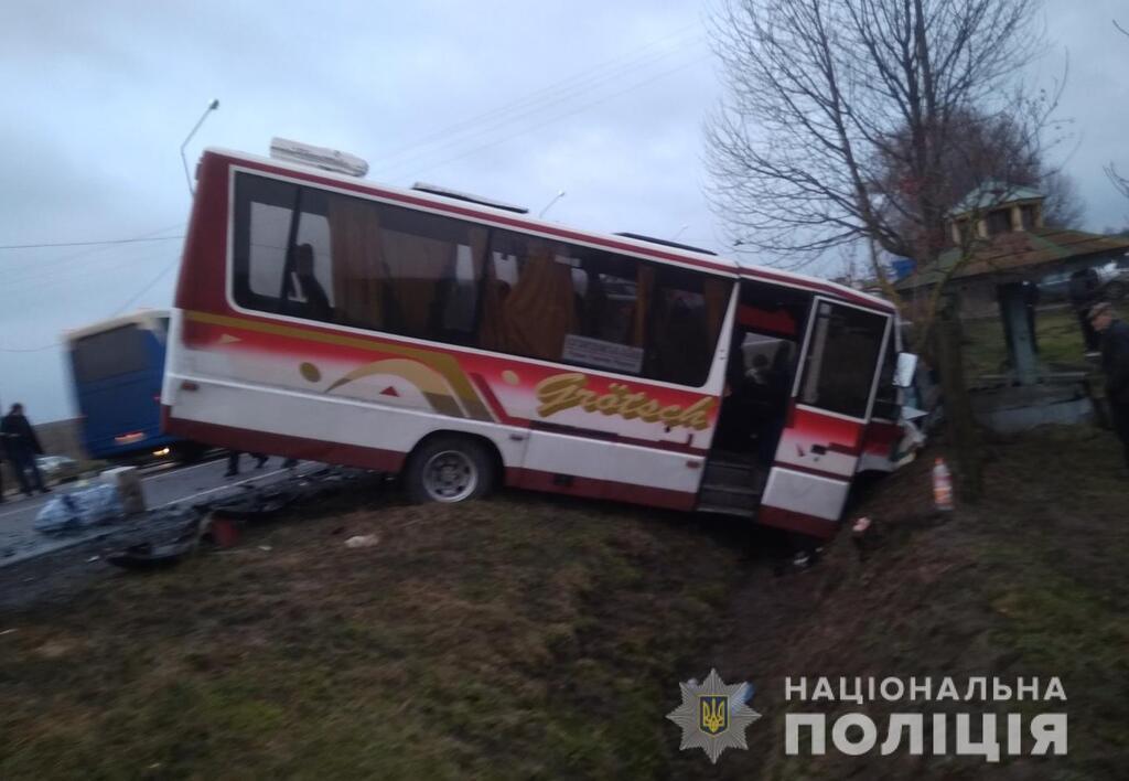 На Волині рейсовий автобус протаранив маршрутку