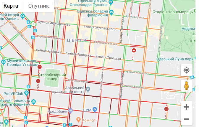 Пробки в Одесі