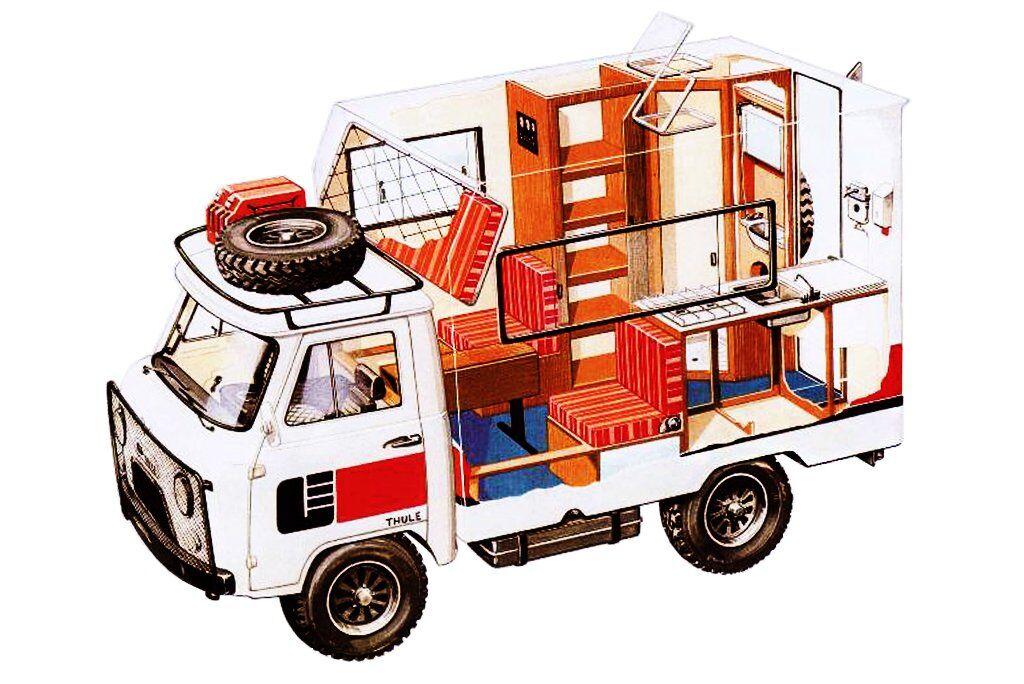 Автокемпер Thule фірми Grand Erg на шасі УАЗ-452Д