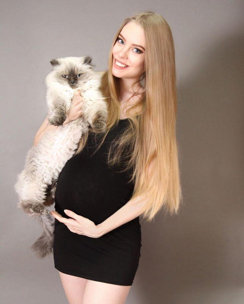 Світлана під час вагітності