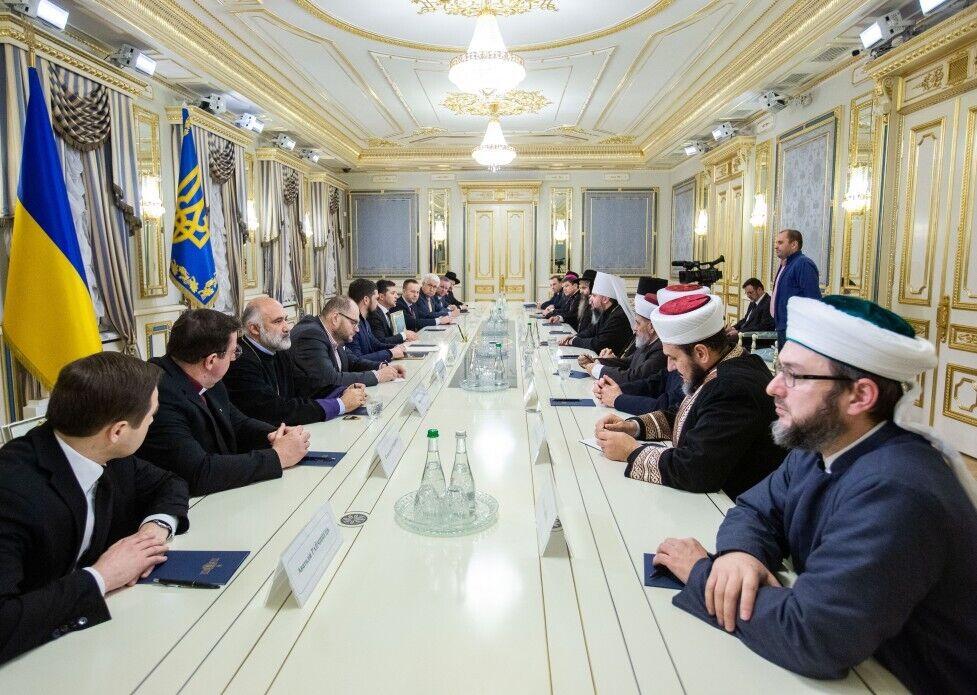 Зеленський зустрівся з релігійними лідерами