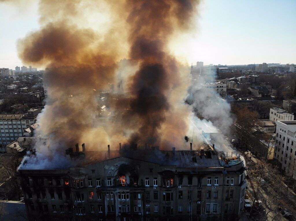 Пожар в колледже Одессы: названа вероятная причина