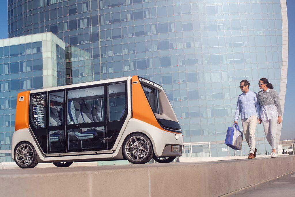 Rinspeed MetroSnap має автономне управління і здатний розганятися до 85 км / год
