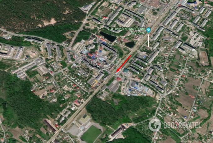 Случай произошел в Обухове Киевской области